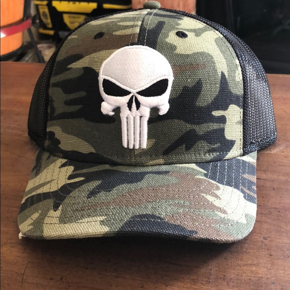 Marvel Other - Marvel snapback baseball curved punisher hat new